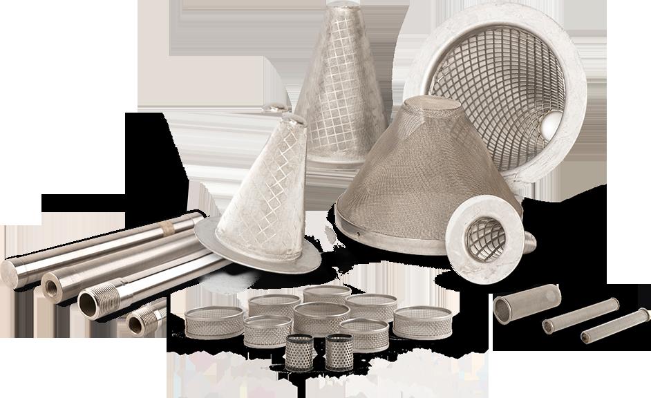 wkłady filtracyjne - różne kształty
